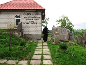 At Reb Nosson's Gravesite in Breslov, Ukraine